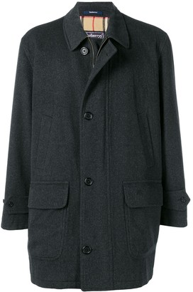 Burberry Pre-Owned 1980's Zip And Button Coat