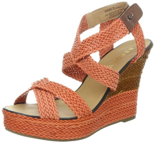 Report Women's Brinkley Wedge,Coral,8.5 M US