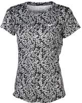 Nike Women's Dri-Fit Pronto Miler Crew Running Shirt-White/Black-XS