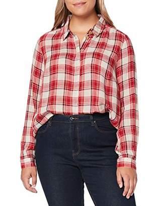Junarose Women's Jrirena 3/4 Sleeve Shirt - K Blouse, High Risk Red Checks, (Size: 52)