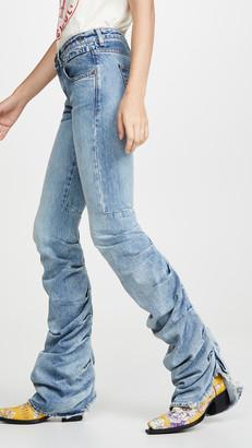 R 13 Shirring Boy Boot Jeans
