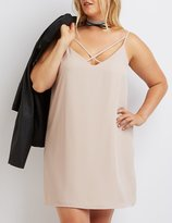Charlotte Russe Plus Size Strappy Caged Shift Dress