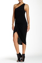 Riller & Fount One Shoulder Pinched Front Mini Dress