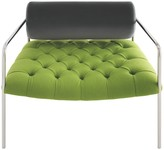 Hawkins Green wool and velvet armchair