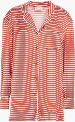 American Vintage Akining Striped Satin Shirt