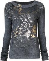 Avant Toi cashmere metallic detail sweater