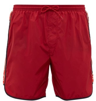 Gucci Logo-stripe Swim Shorts - Mens - Red