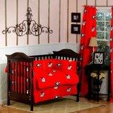 Lanlan GEORGIA Bulldogs Baby Crib Set - 5 Pc set