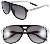 Christian Dior Men's '176S' 60Mm Polarized Sunglasses - Black