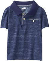 Crazy 8 Marled Navy Space Dye Polo - Infant, Toddler & Boys