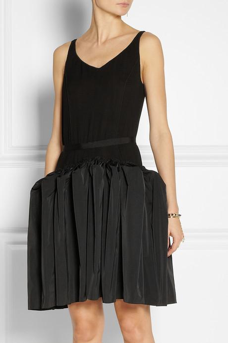 Nina Ricci Crepe and taffeta dress