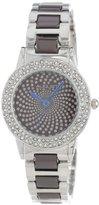 August Steiner Women's AS8052BR Crystal Glitz Ceramic Link Bracelet Watch
