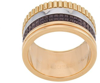 Boucheron 18kt yellow, rose and white gold Quatre Classic large ring