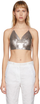 Justine Clenquet SSENSE Exclusive Silver Kate Tank Top