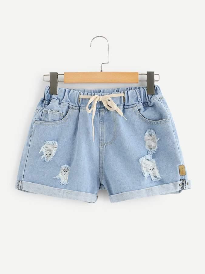 010e1c85535 Drawstring Denim Shorts - ShopStyle