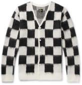 Needles Checkerboard Mohair-Blend Cardigan