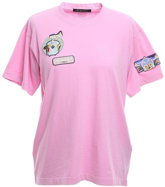 Mr & Mrs Italy Pink Regular T-shirt With Patches