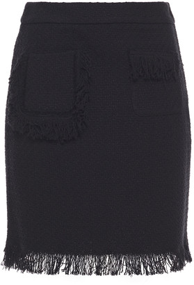 Boutique Moschino Frayed Cotton-blend Tweed Mini Skirt