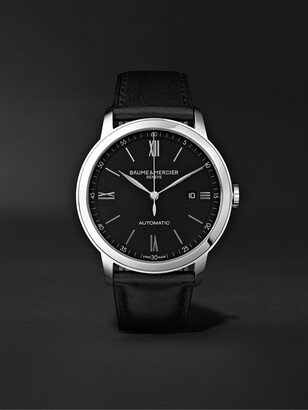 Baume & Mercier Classima Automatic 42mm Stainless Steel And Leather Watch, Ref. No. 10453