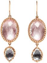 Larkspur & Hawk Sadie Oval Double-Drop Earrings in Ballet & Gray Foil
