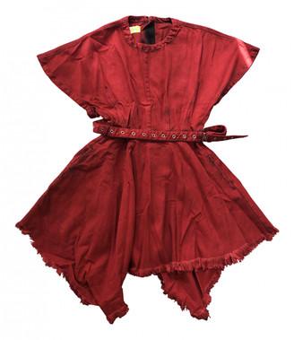 Marques Almeida Red Denim - Jeans Dresses