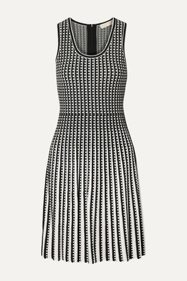 MICHAEL Michael Kors Pleated Stretch-knit Dress - Black