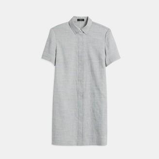 Theory Textured Good Linen Button-Down Dress