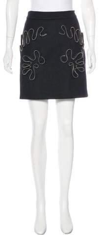 Stella McCartney Zip-Accented Mini Skirt