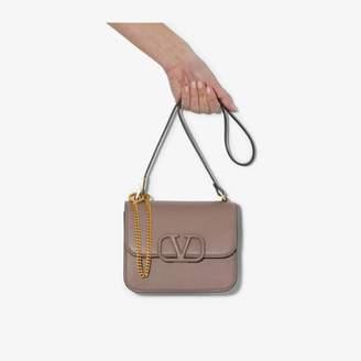 Valentino Brown Garavani Sling logo leather shoulder bag