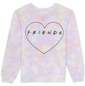 Warner Brothers Juniors Tie Dye Friends Sweatshirt
