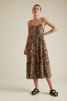 Seed Heritage Animal Print Tiered Dress