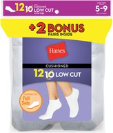 Hanes Women`s 12-Pack Cushion Low Cut Socks, 680/12