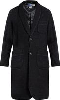 Blue Blue Japan Shawl-collar bouclé-wool coat