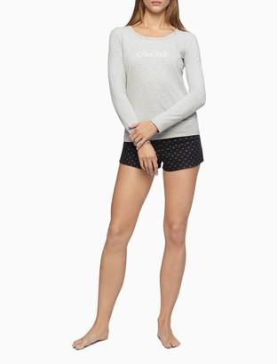 Calvin Klein Comfort Fleece 2-Piece Tee + Sleep Short Set