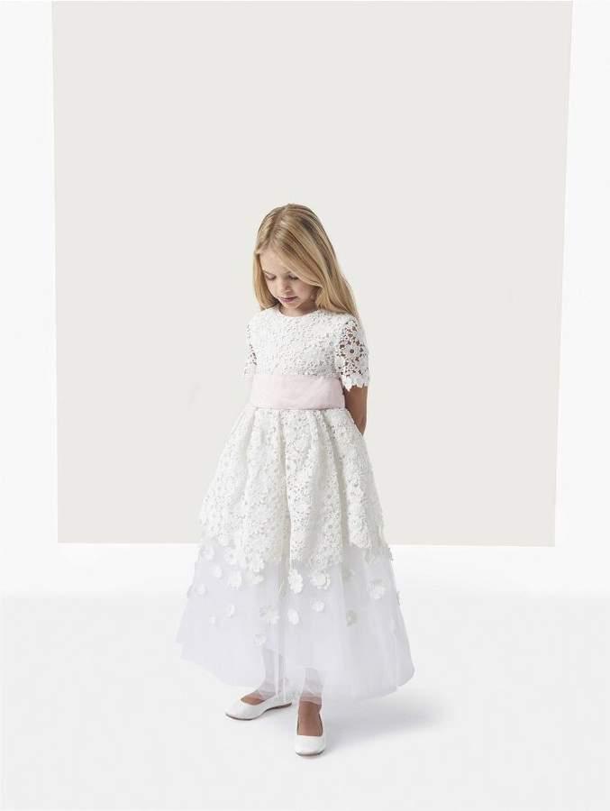 Oscar de la Renta Emma Guipure Lace and Tulle Dress