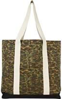 River Island Green Camo Shopper Bag