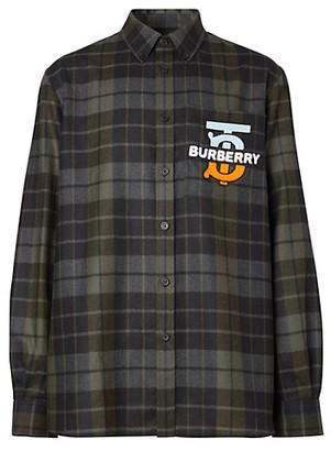 Burberry Tucker Plaid Logo Wool Shirt