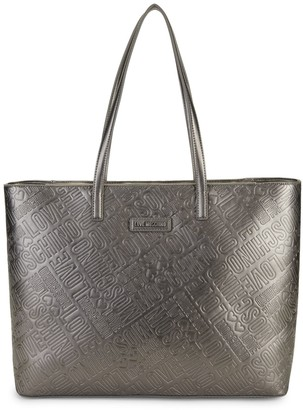 Love Moschino Embossed Metallic Faux Leather Tote