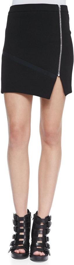 IRO Warol Asymmetric Front-Zip Skirt