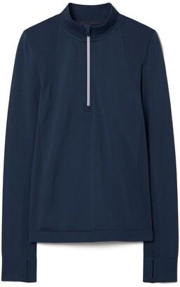 Tory Burch Seamless Half-Zip Pullover