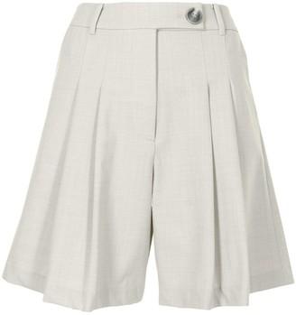 ANNA QUAN Ethan high-waist pleated shorts