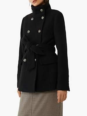 Warehouse Military Short Coat, Black
