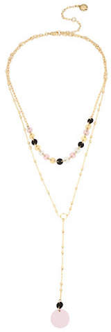BCBGeneration Double Chain Disc Y-Necklace