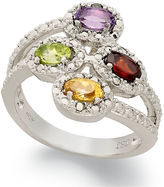 Townsend Victoria Sterling Silver Ring, Multi-Stone (1 ct. t.w.) and Diamond Accent 4-Stone Ring