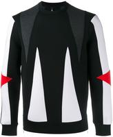Neil Barrett panelled sweatshirt - men - Cotton/Polyurethane/Spandex/Elastane/Viscose - L