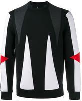 Neil Barrett panelled sweatshirt - men - Lyocell/Cotton/Viscose/Polyurethane - M