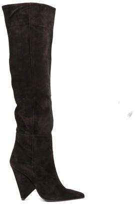 Aldo Castagna Black Color Suede Boots