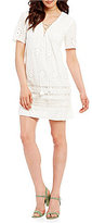 The Jetset Diaries Adriatic Lace-Up Shift Dress