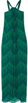 Diane von Furstenberg Lilita Printed Silk-chiffon Maxi Dress - Green