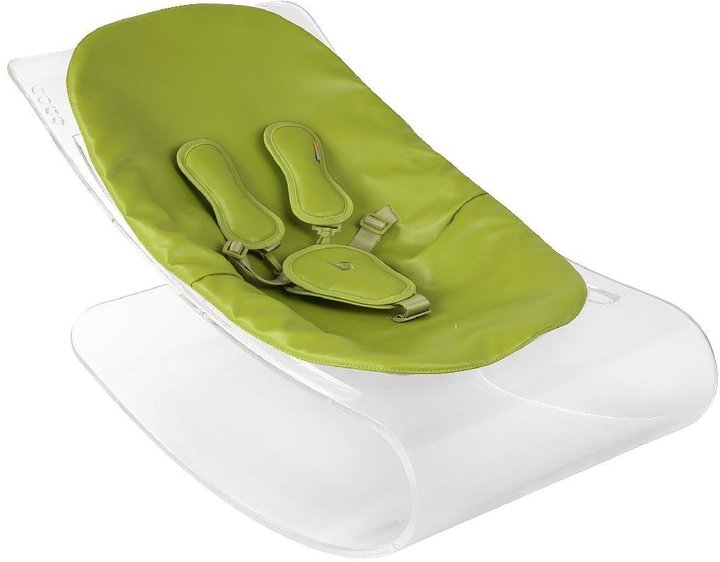 Bloom Coco Lounger - Transparent Plexistyle - Gala Green Seat Pad